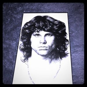 🎶Jim Morrison The Doors wall art sketch print 🎙